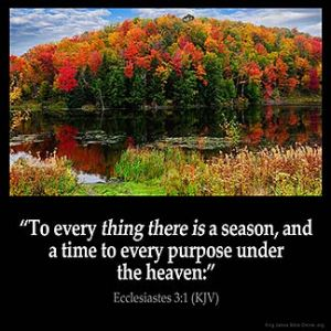 Ecclesiastes_3-1: To every thing there is a season, and a time to every purpose under the heaven