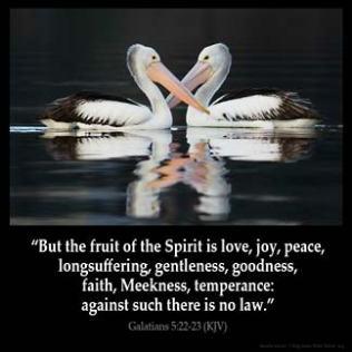 Galatians_5-22: But the fruit of the Spirit is love, joy, peace, longsuffering, gentleness, goodness, faith