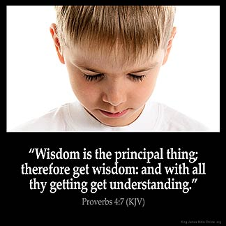 Proverbs_4-7: Wisdom is the principal thing; therefore get wisdom: and with all thy getting get understanding