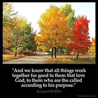 Romans_8-28: And we know that all things work together for good to them that love God, to them who are the called according to his purpose