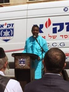 Pastor E A Adeboye Donates An Ambulance To Zaka, Israel's Disaster Recovery Organization