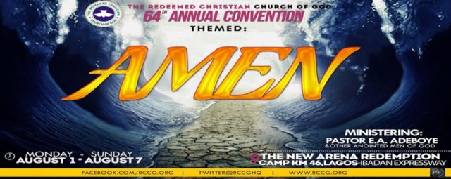 PROGRAMME RCCG 64th Annual Convention. August 2016.