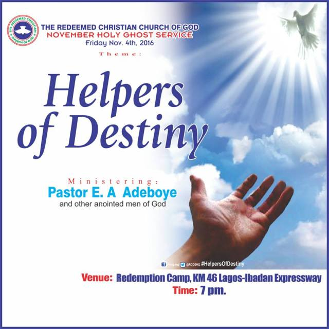 RCCG November 2016 Holy Ghost Service.